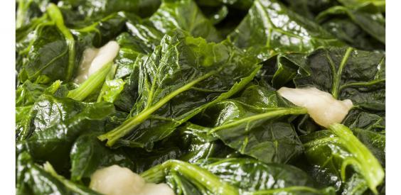 Foglioline di spinaci condite