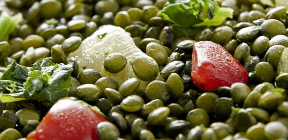 Poêlée de lentilles cuisinées aux légumes