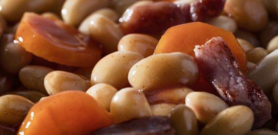 Poêlée de haricots blancs cuisinée à la graisse d'oie