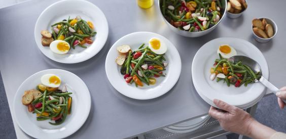 Salade de haricots verts façon bistronomique