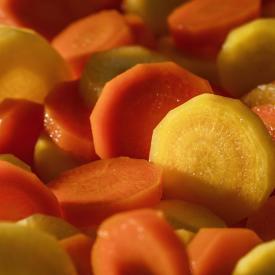 Duo de carottes en rondelles Minute ®