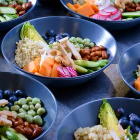Buddha Bowl: Blueberry bean bowl