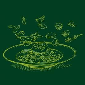 Rübstiel mit Orecchiette und Parmesanschaum