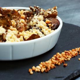 Artischocken-Crumble mit Mandeln