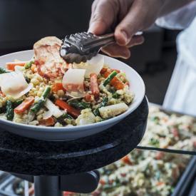 Blesotto de légumes et pancetta