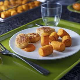 Recette Manger Mains : Bouchées de carottes, nuggets de poulet et son ketchup
