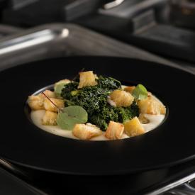 Zuppetta di fave e cavolo nero riccio Kale