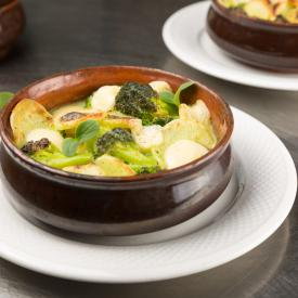 Cocotte gratinate di broccoli e patate