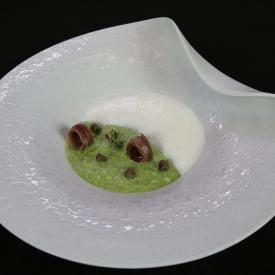 Broccoli in crema con spuma al pecorino