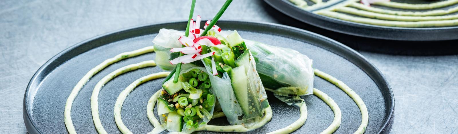 Guilty groenten: Cucumber springrolls