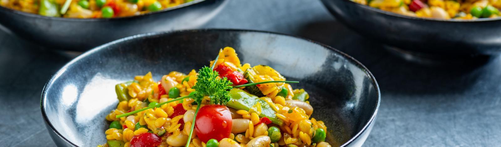 24/7 groenten: Paella españa with pépites
