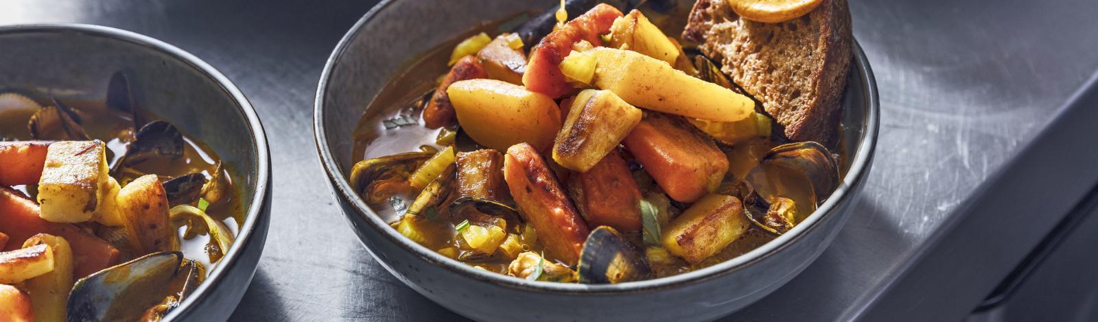 Légumes d'antan façon bouillabaisse