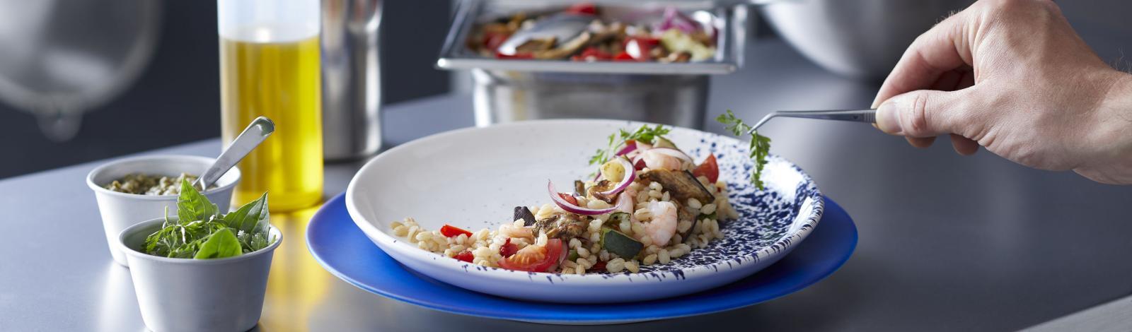 Salade d'orge perlé